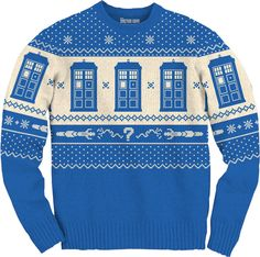 Tardis and Sonic Screwdriver Doctor Who Christmas Sweater