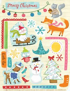 FREE Printable Holiday Scrapbooking elements http://dl.dropbox.com/u/9941983/Julissa_winter_scrapbook.pdf