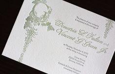 Victorian Vineyard Letterpress Wedding Invitations Main 500x320 Demi + Vincents Victorian Vineyard Wedding Invitations