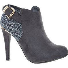 9000bd31451 Grey Heeled Suede Glittered Ankle Boots Tenisky