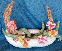 Ceramic flower arrangement.