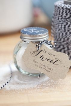 Sugar: Keep it simple and sweet with a sugar favor. Photo by Kimbry Studios Photography via Style Me Pretty