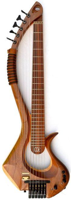 Mother Plucker Guitars Boudica 6 string Bass Harp Guitar --- https://www.pinterest.com/lardyfatboy/