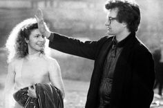 "Wim Wenders on set of ""Wings of Desire"" Still Picture, Picture Photo, Bruno Ganz, Wings Of Desire, Film Movie, Movies, Films, Cinema Actress, Book Writer"