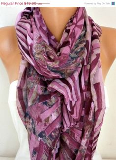 Spring Cotton Scarf Shawl Summer Winter Accessories by fatwoman