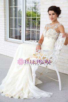 75509e724d6 2015 Bateau Wedding Prom Dresses A Line Beaded Chiffon And Tulle Sweep  Train Ballkleider 2015. Ballkleider 2015Formelle KleiderAbendkleiderRückenfreie  ...
