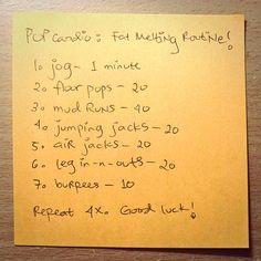 Melt fat workout!