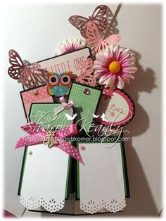 My card in a box creation. This is what it looks like lying flat. Fits perfectly into an envelope - created by Sharon Keanly