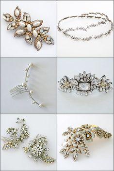 Cera Ivory Bridal hairpins
