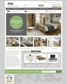 basic homepage website design for an ecommerce website features including scrolling banner best furniture websites design