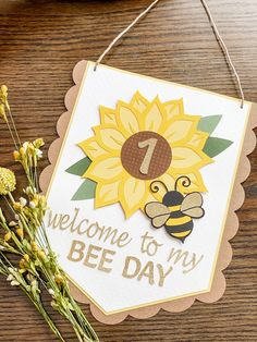 Bee /& beehive wood cutout shapes burlap banner garland garden decor birthday party mommy to be baby shower  nursery