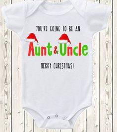 Christmas Pregnancy announcement idea for aunt or uncle ONESIE ® brand bodysuit or shirt  pregnancy reveal for grandparents or family by The1stYearBaby on Etsy