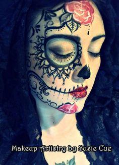 dia de los muertos makeup idea 1
