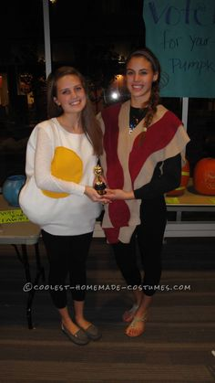 Coolest Bacon and Eggs Couple Costume... This website is the Pinterest of costumes