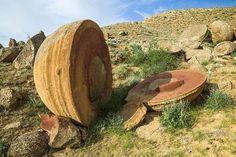 Huge stone spheres in Mangistau, Kazakhstan