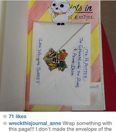 """Wreck this journal """"wrap something with this page"""" by wreckthisjournal_anne"""