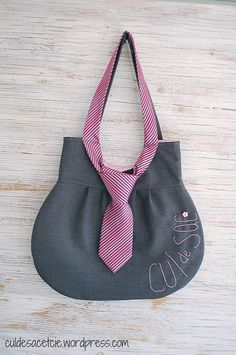 necktie bag | made from upcycled materials! listing: www.ets… | Flickr