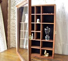 Vintage Display Case Shadow Box Glass Curio By Cynthiasattic, $45.00