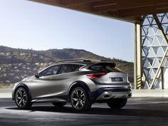 The Infiniti concept vehicle debuts at the Geneva auto show in Switzerland next week. The compact SUV is about inches taller than the upcoming compact car. Nissan Juke, Audi Q3, Cadillac, Bmw, Automobile Magazine, Mercedes Benz, Toyota, 2015 Infiniti, Nissan Infiniti