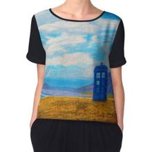 Women's Chiffon Top. TARDIS: Sightseeing Tardis, Doctor Who, Chiffon Tops, Tank Man, People, Mens Tops, How To Wear, Fashion, Moda