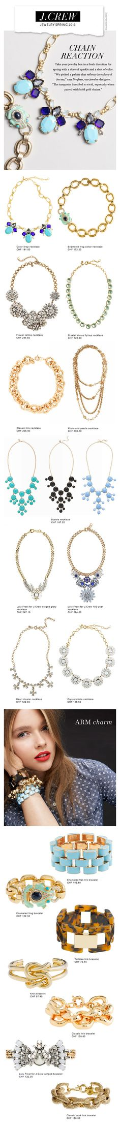 J.Crew Jewelry Spring 2013. Love everything minus the bubble necklaces. | I just died and went to heaven yup
