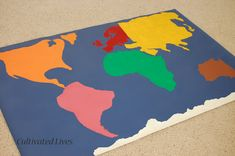 Here is a fun tutorial for a Global Twister game! There are a variety of ways you can play it. The cards allow for selecting a continent and then right/left, hand/foot options. For younger one's it is possible to make the game even simpler.