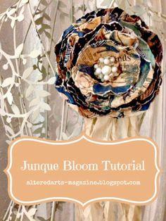 Altered Arts Magazine: Junque Blooms Tutorial