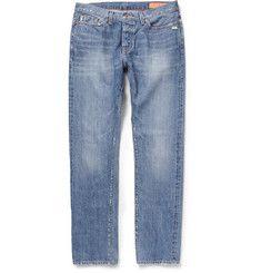 Jean ShopSlim-Fit Distressed Washed-Denim Jeans.  320