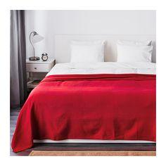 IKEA - INDIRA, Couvre-lit, 250x250 cm, , Ce dessus de lit en coton tissé donne à votre lit une touche décorative, tout en apportant chaleur et confort.