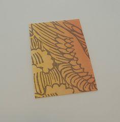 """A Winged Note""  printmaking, cards, letterpress, wing, photopolymer, design  @saltjubileepress"