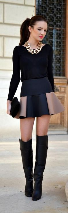 Have you started looking for new chick and modern combinations to wear this fall? Read on and check out 16 Modern Outfits For An Elegant Fall. Estilo Fashion, Look Fashion, Fashion Beauty, Fashion Outfits, Womens Fashion, Street Fashion, Petite Fashion, Curvy Fashion, Fall Fashion