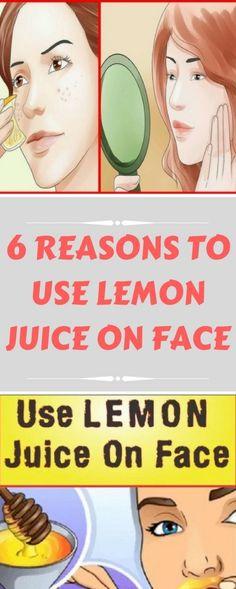 6 REASONS TO USE LEMON JUICE ON FACE
