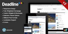Deadline - Responsive Premium WordPress News / Magazine Theme - ThemeForest Item for Sale