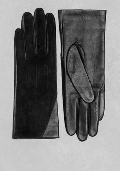 Soft, buttery leather and tactile suede are combined in these classic gloves, lined with a delicate fabric. & other stories