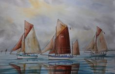 "Maritim Watercolor,Boats,0riginal,Artist quoted at Drouot ""Ecole française"" https://www.etsy.com/listing/184298058/maritim-watercolorboats0riginalartist?ref=shop_home_active_2"