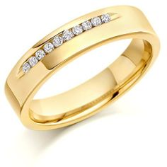 House of Williams 18ct Yellow Gold Ladies 4mm Wedding Ring with 10pts of Diam... House of Williams London, http://www.amazon.co.uk/dp/B002N5LGWQ/ref=cm_sw_r_pi_dp_nS9.sb1MSBX41