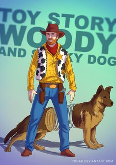 Woody BADASS by Tohad.deviantart.com on @deviantART | And yes, it is a representation of Chuck Norris