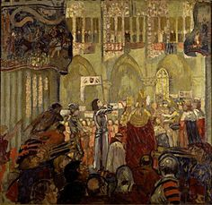 Joan of Arc - You have heard Her Name, Do you really know Her Story? Painting of Joan of Arc at the Coronation of Charles VII By Maurice Denis Maurice Denis, Saint Joan Of Arc, St Joan, Edouard Vuillard, Henri Matisse, Age Of Empires 2, Jeanne D'arc, Avant Garde Artists, Pre Raphaelite