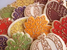 Thanksgiving~Fall~Autumn cookies