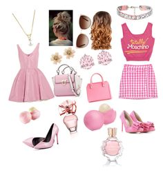 """pink best friends"" by sailorangel ❤ liked on Polyvore"