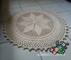 Tapete finalizado. Eu adoro esse fio. O tapete fica bem levinho e fácil de lavar... Ficou com 75cm de diâmetro. #tapetedecrochê #tapete #decoracao #sala #crochê #tapeteredondo #tapetes #tapetedecrochê #crochet #crochetandosonhos #crochetando #crochetlovers #amocrochê #feitoamao #artesanato #linhas #aceitoencomendas #tapetebarbante #minhacasa #meular #myhome #enxoval #casar #paraolar