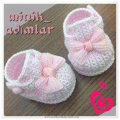 Crochet Baby Booties My booties ........