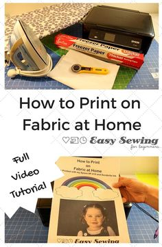 How to Print on Fabric at Home using an inkjet printer! Step by step video tutorial.
