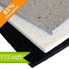 Echo Absorber Acoustic Panel: - a light weight, thermally bonded acoustical panel made from recycled cotton fibers, which offers excellent noise reduction qualities in low, middle and high frequencies. It is a cost effective solution for areas that suffer from extreme levels of noise caused by echo.