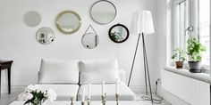 Today we are going to show a Swedish apartment that has the most stunning Scandinavian floor lamps.