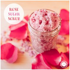 This Rose Sugar Scrub was the perfect treat for myself this weekend! Try it out—it was so easy to make