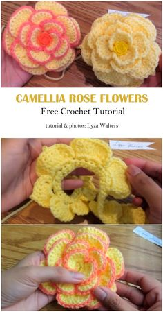 A flower is a wonderful gift for every woman, so we have the opportunity to make a gift for ourselves and make the day beautiful. Crochet Flower Tutorial, Crochet Instructions, Crochet Flower Patterns, Crochet Motif, Crochet Designs, Crochet Stitches, Easy Crochet Flower, Crochet Roses, Crochet Crafts