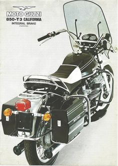 Brochure of the Moto Guzzi 850 California, part of my collection You can find more brochures in : Moto guzzi posters,brochures, ads and pictures by,BCI Motorbikes Vintage Bikes, Vintage Motorcycles, Cars And Motorcycles, Moto Guzzi California, Moto Guzzi Motorcycles, Guzzi V7, Gear Drive, Motorcycle Posters, Ducati