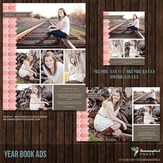 INSTANT Download Yearbook Ad Templates 3 by TheHummingbirdPress, $14.00