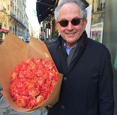 I'm a sucker for a man with flowers. Especially this man. #happyhubby #Paris